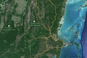 Belize - Crooked Tree - Google Maps Screenshot