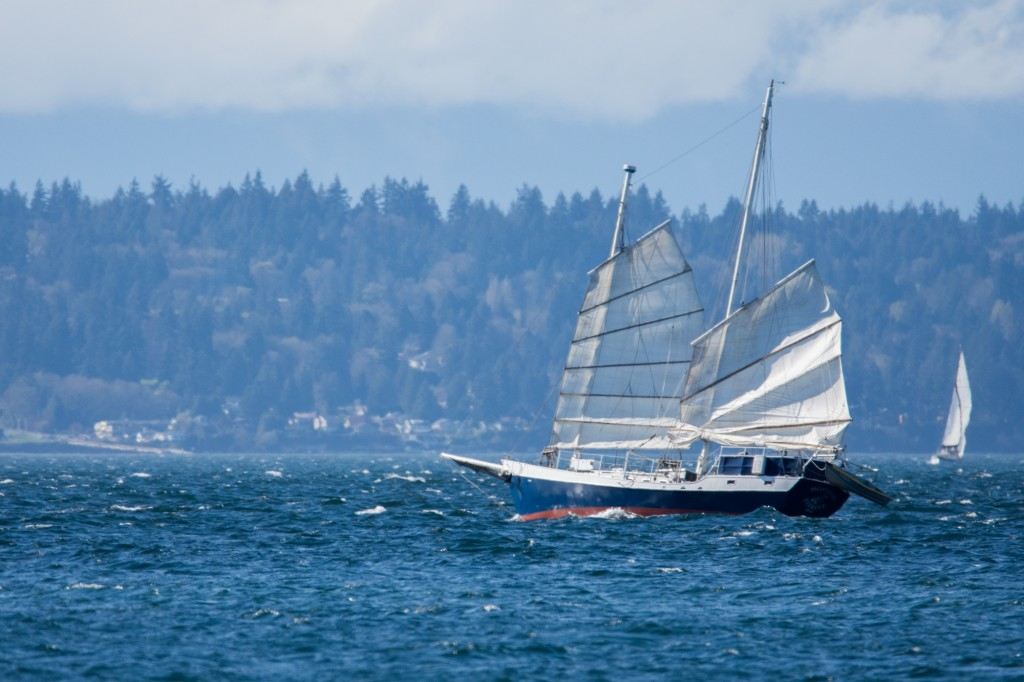 Schooner in Puget Sound