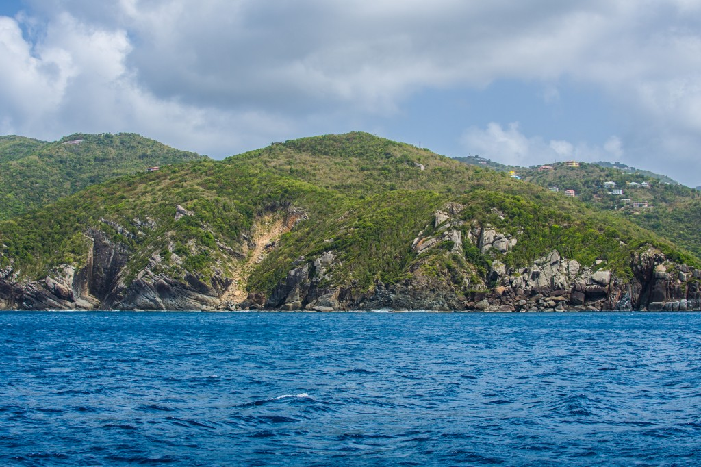 The hills on the north side of Tortola