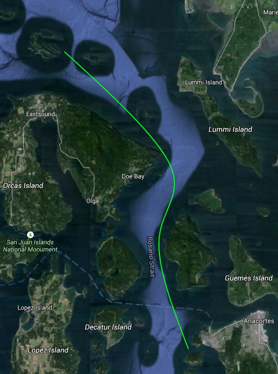 Sucia Island to Anacortes
