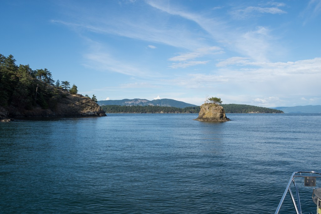 The view from our anchorage at Cypress Island