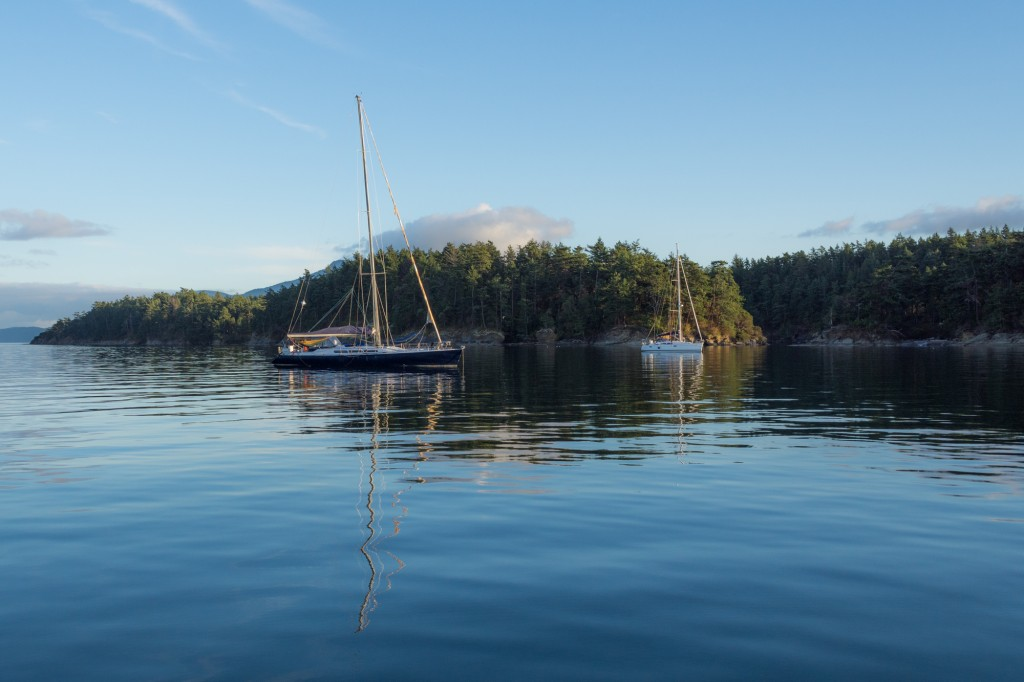 Our neighbors at anchor in Echo Bay, Sucia Island