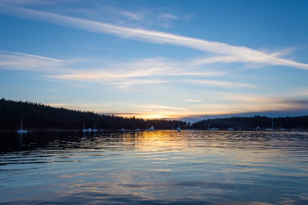 Sunset in Echo Bay