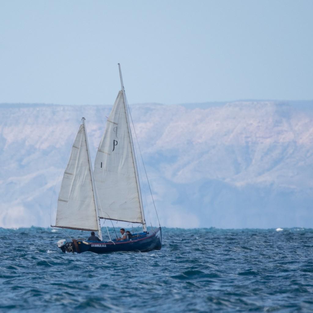 A small sailboat near La Paz